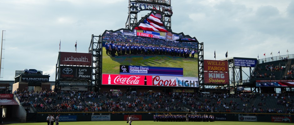 Skyline Sings National Anthem at Rockies Game!